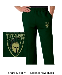 Adult Open Bottom Fleece Pant Design Zoom