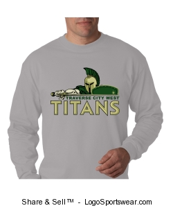 Hanes Adult Long Sleeve Beefy-T Design Zoom